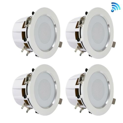 3.5/'/' Bluetooth Ceiling//Wall Speakers  2-Way w// Built-in LED Ligh LOT OF 12