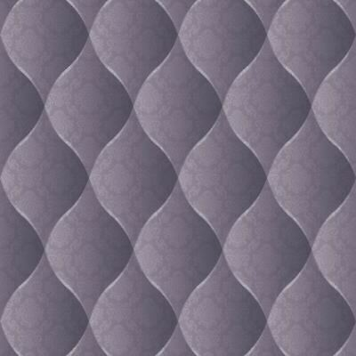 Cushioned Leather 3D Effect Headboard Wallpaper Purple Metallic Paste The Wall