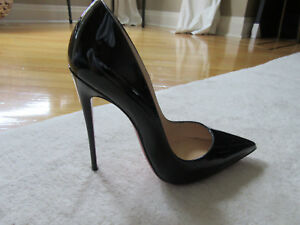 341166ab403 Details about Christian Louboutin So Kate 120 mm Patent Leather Black Pumps  Heels Size 38.5