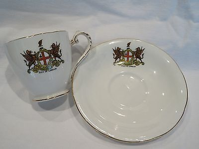 Vintage Grafton A.B.J & Sons England City of London Crest Cup Saucer