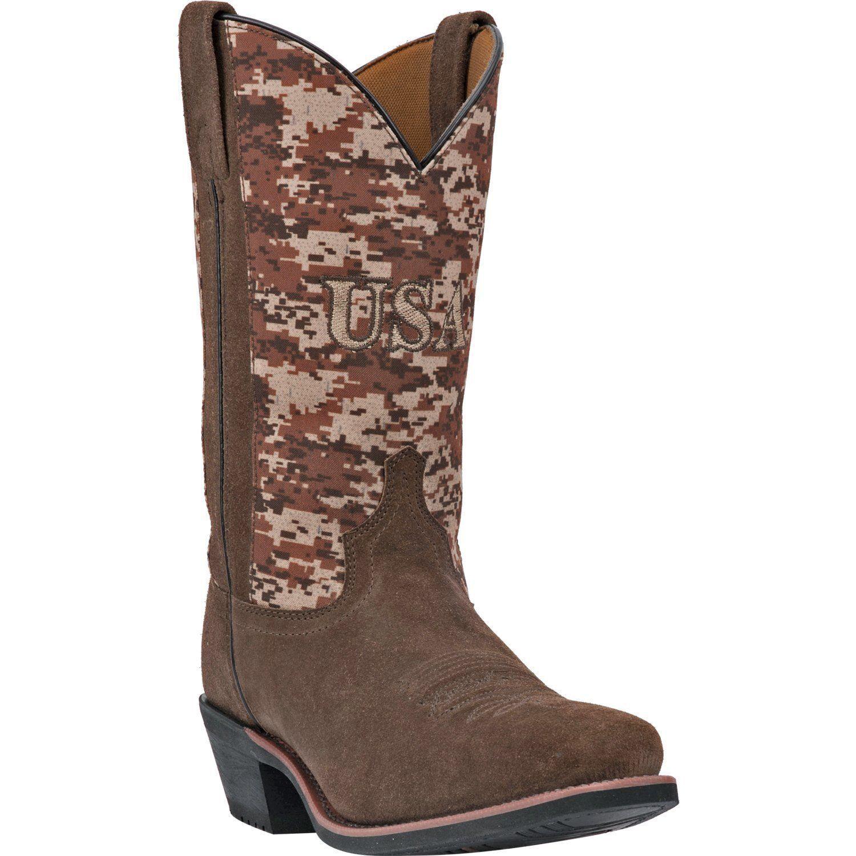 Men's Dan Post Laredo Brown Camo Tango Cowboy Boots 68332