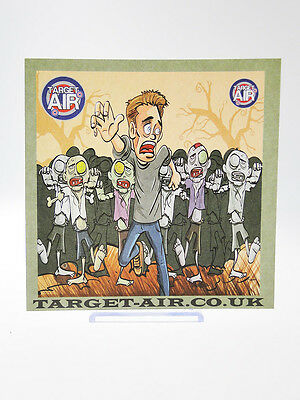 Cooperativa 10 Bersagli In Cartoncino Target Inseguimento Zombie Lato 14 Cm Quadrati Softair