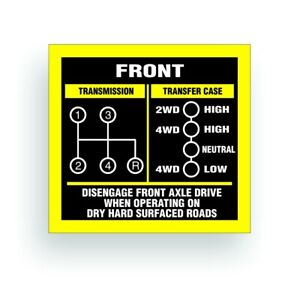 Details about TRANSMISSION SHIFT PATTERN decal for willys cj jeep SM465  DANA 18 AR048