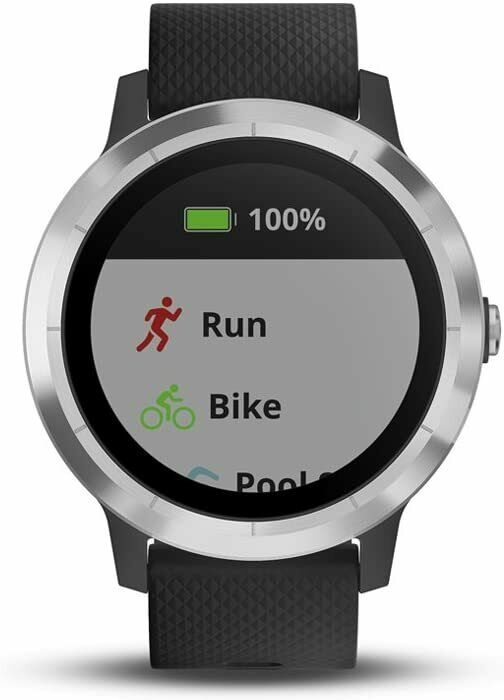 Garmin vivoactive 3 GPS Smartwatch - Stainless Steel and Black - Heart Rate - UD