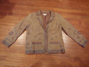 Coldwater-Creek-Long-Sleeve-Button-Down-Shirt-Jacket-Size-XL-Women-039-s
