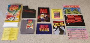 Dragon-Warrior-I-1-I-i-Nintendo-NES-Game-Manual-Box-Map-Chart-Complete-CIB-Lot