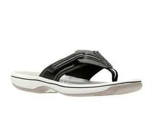 9a594f2ccd75d Image is loading Clarks-Sandals-Brinkley-Jazz-Womens-Flip-Flop-Size-