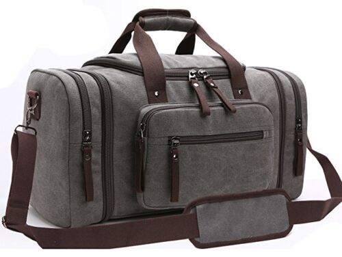 Mens Business Travel Garment Bag Carry On  Canvas Gym Luggage Duffel Large Bags