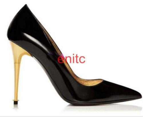 novia Zapatos con con mujer metal 11 y alto tacón para estrecha Zapatos de nupciales tacón puntiaguda de punta de alto 55rwqf1