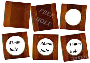 1 LENS BOARD 53 x 54.5mm  FOR PONY PREMO No 5 - Mahogany, undrilled & free hole
