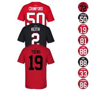 8830af16d Chicago Blackhawks NHL Reebok Player Name   Number Premier Jersey T ...