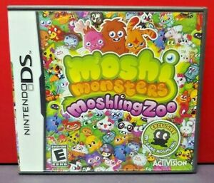 Moshi-Monsters-Moshling-Zoo-Nintendo-DS-DS-Lite-3DS-2DS-Game-Complete-Tested