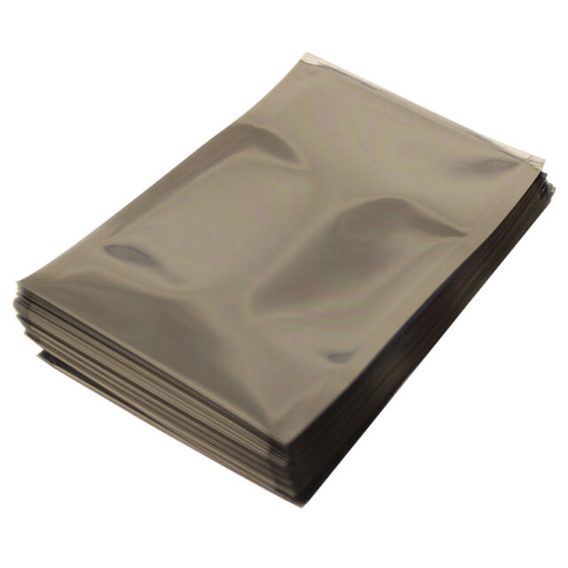 "Pack of 100 Gray 12/"" x 12/"" Elkay Plastics 3 Mil Open End Static Shielding Bags"