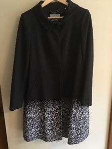 Beautiful-Jigsaw-Black-Ombre-Wool-Blend-Jacket-Coat-New-Size-12