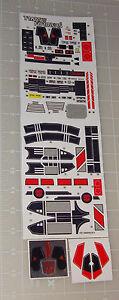 G1 Jetfire Complete Sticker Decal Sheet Evil Custom