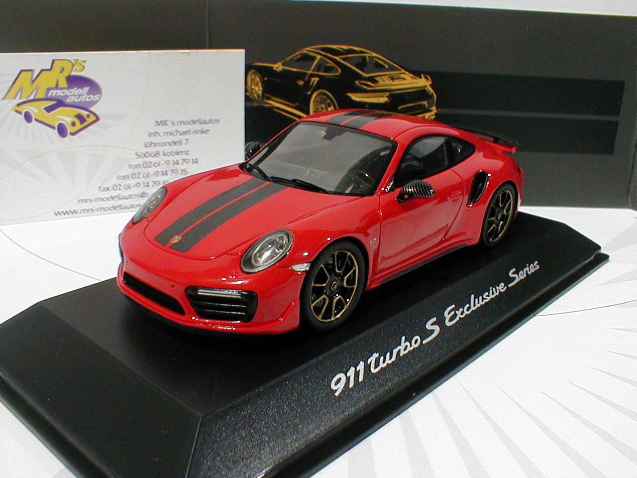 SPARK wap0209060j-PORSCHE 911 911 911 (991) Turbo S Exclusive  ROUGE INDIEN  1 43 NEUF 0385af