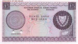 Chipre 2.3kg P 44s Ct. Muestra Color Prueba Raro que No Ha Circulado Billetes