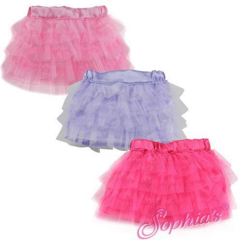 Tulle Skirt with Elastic Waistband Purple Lavender fit 18 American Girl Doll