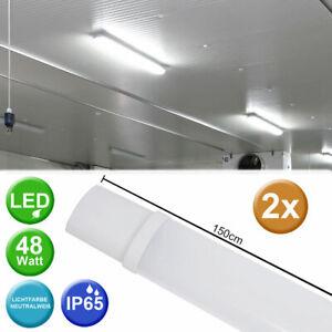 2er-Set-LED-48-W-Baignoires-Couvrir-Luminaires-Atelier-Feucht-Raum-Lampes