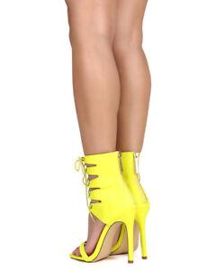 eaca8888dd2c New Women Liliana Nikia-27 Leatherette Open Toe Lace Up Gladiator ...