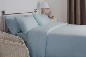 Belledorm-100-Brushed-Cotton-Flannelette-Bed-Linen-In-Blue-All-Sizes-175gsm