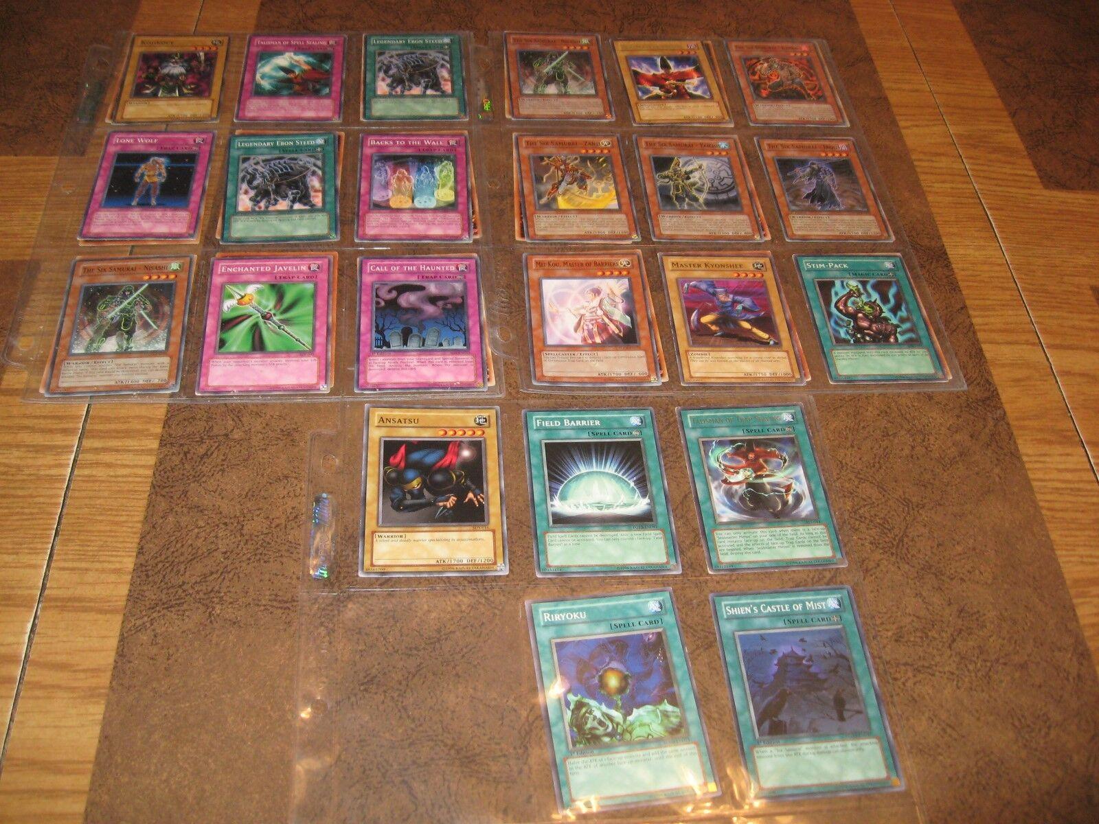 41 CARDS 1996 YU GI OH KONAMI TRADING CARD IN PredECTOR SLEEVE- KAZUKI TAKAHASHI