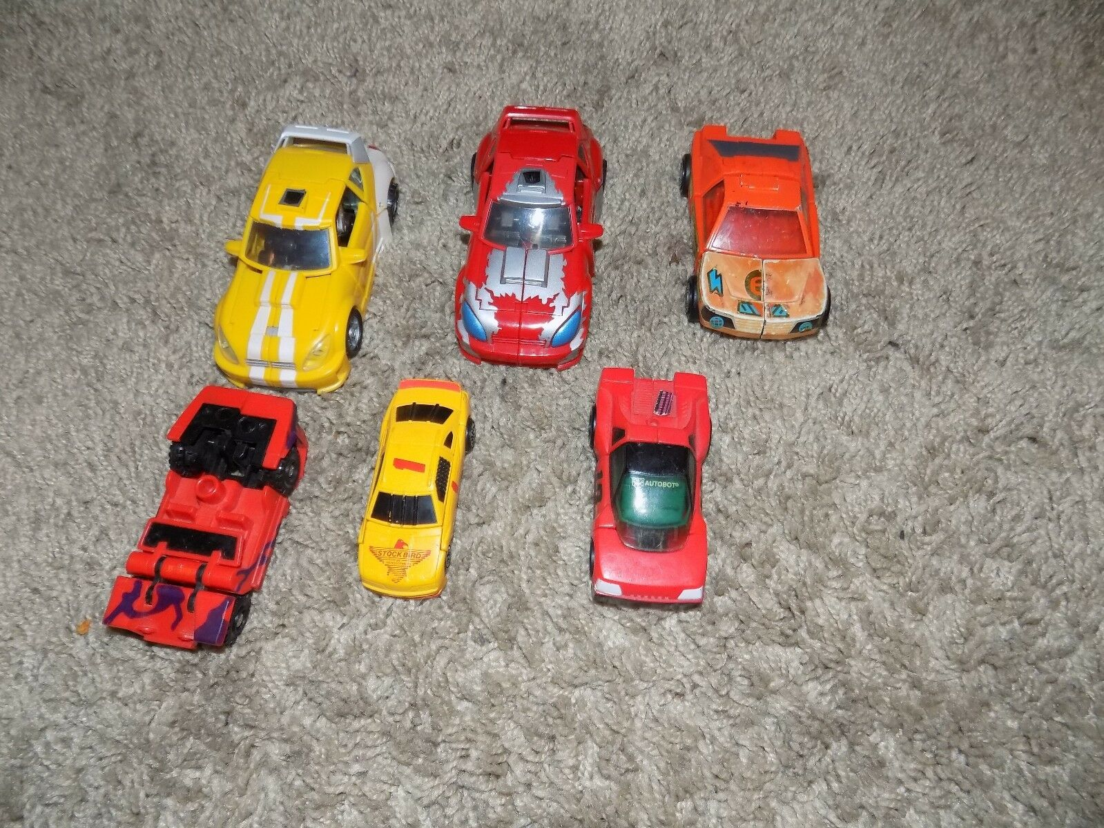 Vintage Action Figure Lot of 21 Miscellaneous Transformers TMNT Etc