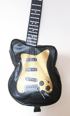 BLACK ELECTRIC GUITAR SHAPED Retro overnightgymholdallflightschool bag, new | eBay