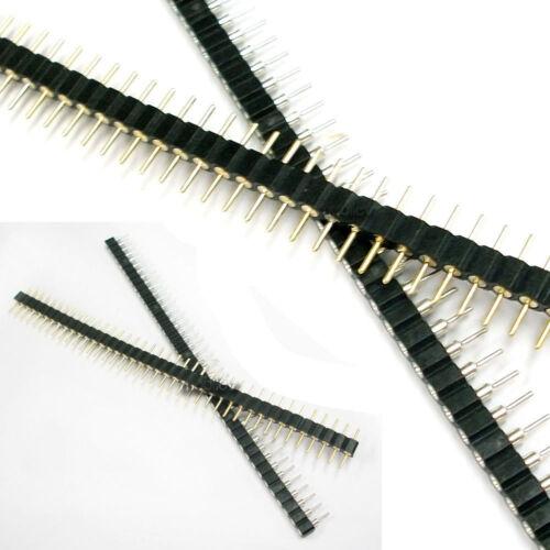 6 Paar stecker buchse schwarz 40 PCB einreihig Rundsteckhülse 2.54mm Hebung