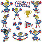 CHEERLEADERS * Machine Embroidery Patterns * 12 designs