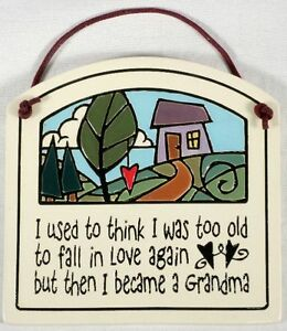 Spooner Creek Art Ceramic Wall Hanging Quot Became A Grandma