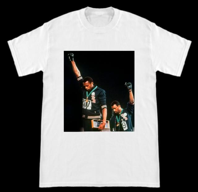 Unisex T-Shirt 1968 Olympics Black Power Salute Shirts For Men Women Funny White Gift