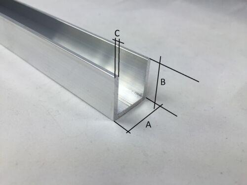 Aluprofil U-Profile U Winkel Aluminiumprofil Alu U Profil Aluminium AlMgSi0,5