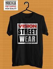 New USA Skate Vision Street Wear 80s skateboarding T-Shirt S-5XL