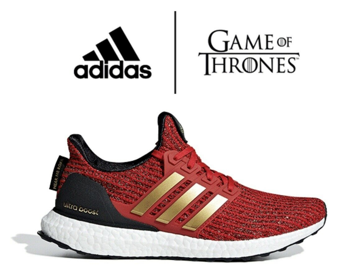 WOMEN ADIDAS X GAME OF THRONES HOUSE LANNISTER ULTRABOOST SHOES - SZ 8.5 -EE3710