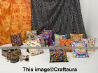 "16"" Indian Handmade Embroidered Work Decor Boho Throw Pillow Cushion Cover Art"