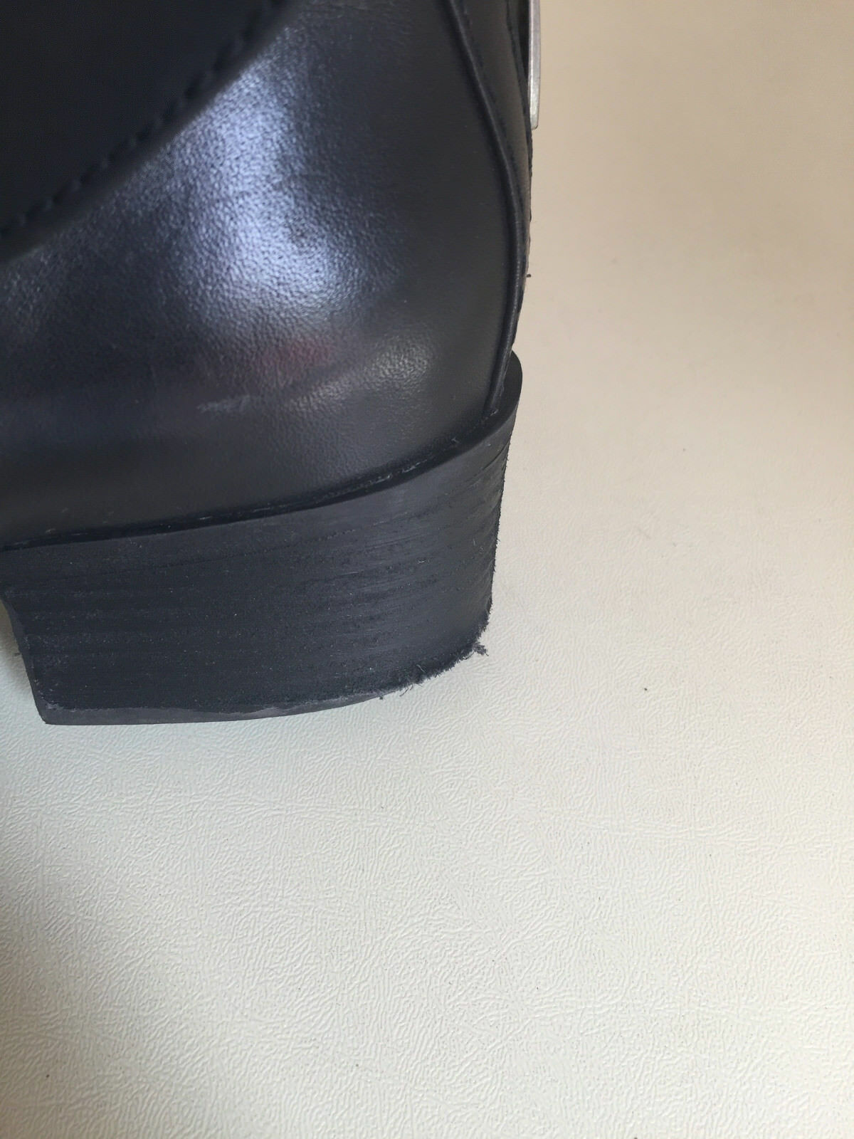 WOMEN MARC FISHER ANKLE BLACK BOOTS SIZE 7.5M