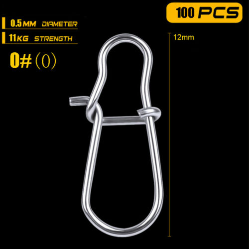 Durable Line tackle Connector Fast lock  Fishing Hanging Snap Barrel Swivel