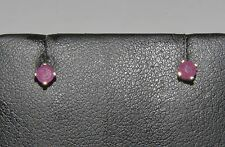 FASCINATING 14k SOLID YELLOW GOLD RUBY STUD EARRINGS