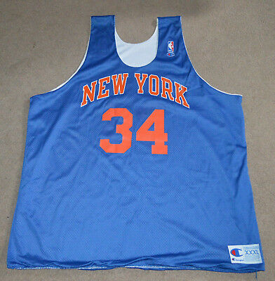 brand new a9cf1 553a2 Charles Oakley New York Knicks Game Worn Champion Reversible Practice  Jersey 90s | eBay