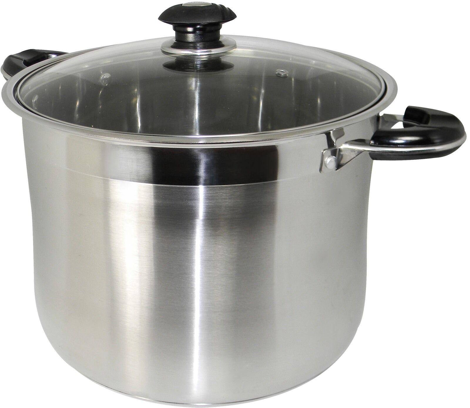 Casserole Faitout Gourmet Tri Pli Cookware Heavy Duty en Acier Inoxydable 20 QT