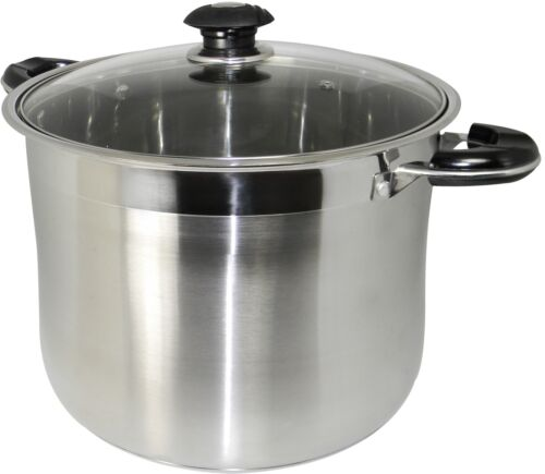 Stockpot Stock Pot Gourmet Tri Ply Cookware Heavy Duty Stainless Steel 20 Quart