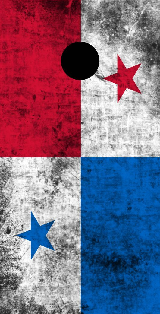 Worn Country (Panama) Flag Themed Cornhole Board Prints   Wraps   Corn Hole