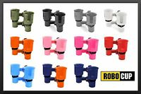 Robocup 9 Colors, Clamp On Drink Cup Holder Wheelchair Walker Crutches Rollator