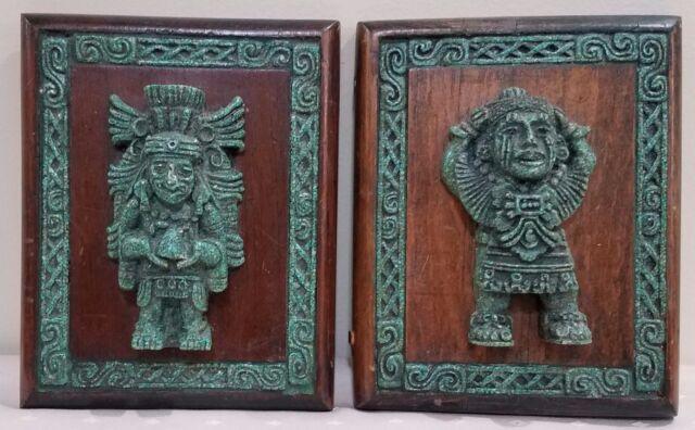 Vintage 1950\'s Zarebski Originals Malachite Mayan Wall Art Lot of 2 ...