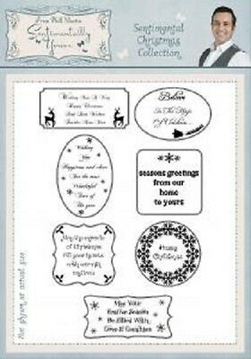 PHIL MARTIN Sentimentally Yours SENTIMENTAL CHRISTMAS COLLECTION A5 Clear Stamps