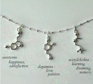 Unique-Serotonin-Dopamine-Acetylcholine-Molecule-DNA-Biochemistry-Necklace-Gift