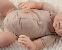 19 Reborn Doe Suede Body For 3/4 Arms & Full Side-loading Legs Baby Doll Kits