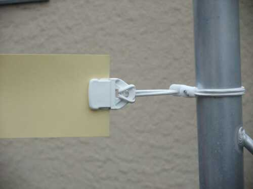 50x Holdon Banner-Planen-Spanner weiss Mini-Clip Spannfix 25cm Ø4mm Spanngummi