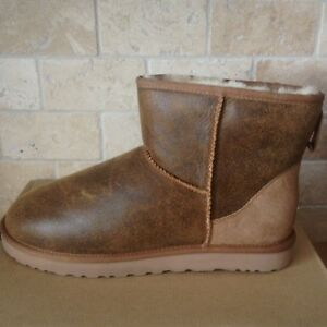 b549e47964b Details about UGG Classic Mini Chestnut Bomber Jacket Suede Sheepskin Boots  Size US 9 Mens NEW